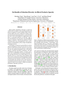 On Benefits of Selection Diversity via Bilevel Exclusive Sparsity