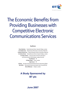 The Economic Benefits from Providing Businesses with Competitive Electronic