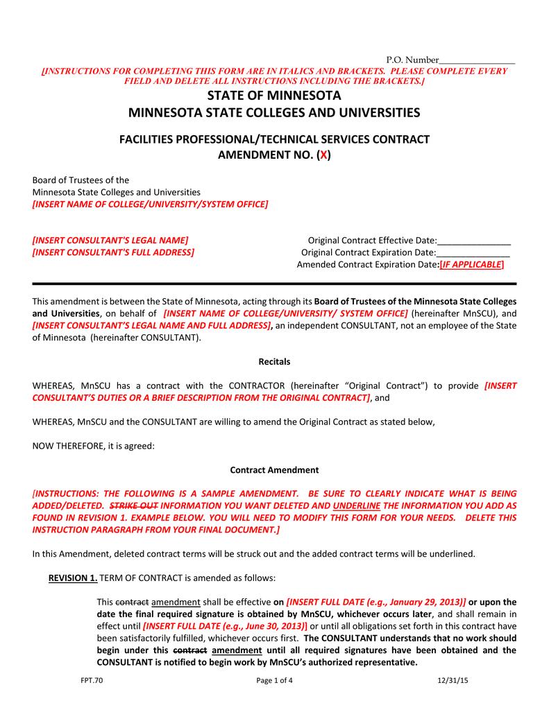 contract amendment
