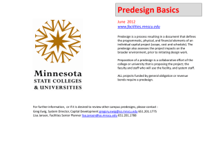 Predesign Basics  June  2012 www.facilities.mnscu.edu