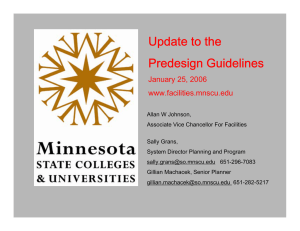 Update to the Predesign Guidelines January 25, 2006 www.facilities.mnscu.edu