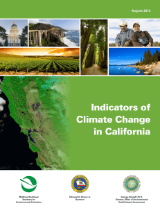 Indicators of Climate Change in California August 2013