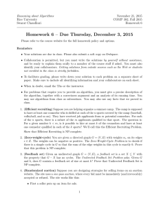 Reasoning about Algorithms November 21, 2015 Rice University COMP 382, Fall 2015