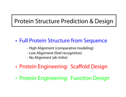 Protein Structure Prediction & Design • Full Protein Structure from Sequence