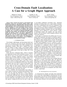 Cross-Domain Fault Localization: A Case for a Graph Digest Approach