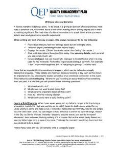 Writing a Literacy Narrative