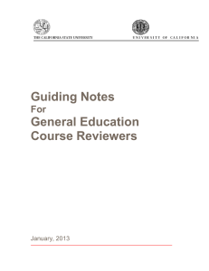 Guiding Notes General Education  Course Reviewers