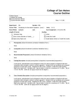 College of San Mateo Course Outline