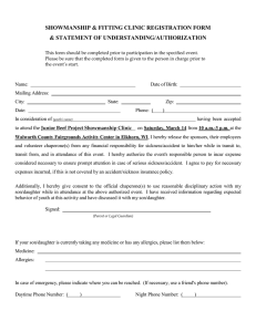 SHOWMANSHIP & FITTING CLINIC REGISTRATION FORM & STATEMENT OF UNDERSTANDING/AUTHORIZATION