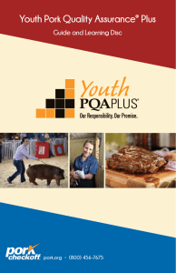 Youth Pork Quality Assurance Plus Guide and Learning Disc ®