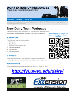 DAIRY EXTENSION RESOURCES