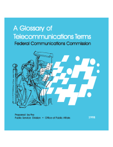 Glossary of AAAAA Glossary of elecommunications T erms