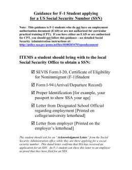Social Security Rejection Letter for Driver s License