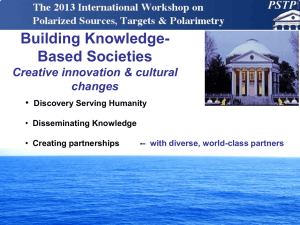Building Knowledge- Based Societies Creative innovation & cultural changes