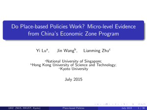 Do Place-based Policies Work? Micro-level Evidence from China's Economic Zone Program ,