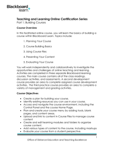 Teaching and Learning Online Certification Series Part 1: Building Courses