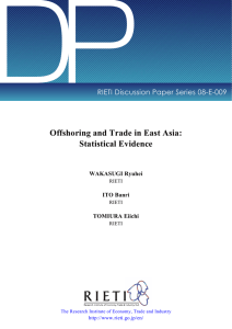DP Offshoring and Trade in East Asia: Statistical Evidence