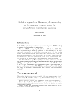 Technical appendices: Business cycle accounting for the Japanese economy using the