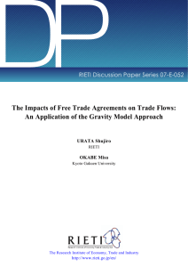 DP The Impacts of Free Trade Agreements on Trade Flows: