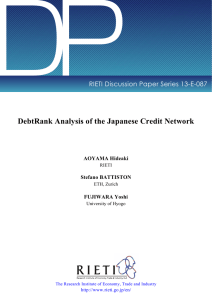 DP DebtRank Analysis of the Japanese Credit Network AOYAMA Hideaki