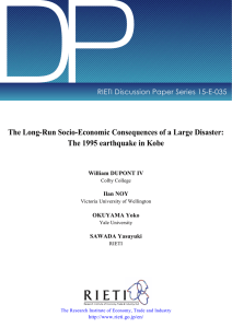 DP The Long-Run Socio-Economic Consequences of a Large Disaster: