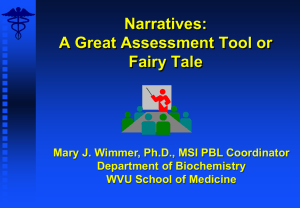Narratives: A Great Assessment Tool or Fairy Tale