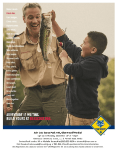 Join Cub Scout Pack 404, Glenwood/Media!