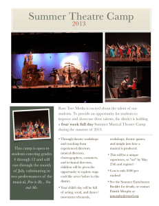 Summer Theatre Camp 2013