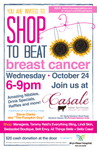 SHOP TO BEAT breast cancer 6-9pm