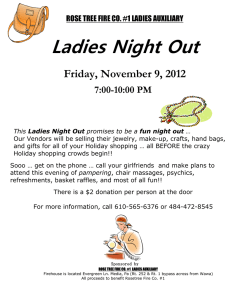 Ladies Night Out  Friday, November 9, 2012