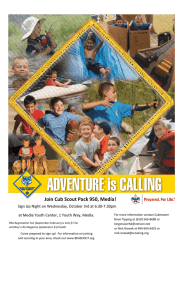 Join Cub Scout Pack 950, Media!   Sign Up Night on Wednesday, October 3rd at 6:30‐7:30pm at Media Youth Center, 1 Youth Way, Media.