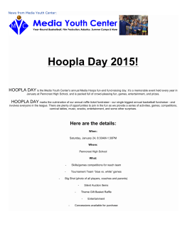 Hoopla Day 2015!  HOOPLA DAY