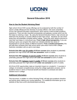 General Education 2016  How to Use the Student Advising Sheet