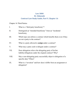 Law 3800 Dr. Edmonds Contract Law Study Guide, Part V, Chapter 16