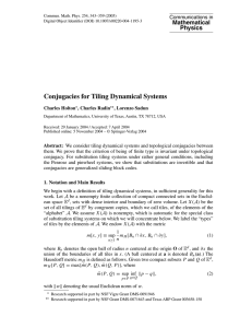 Conjugacies for Tiling Dynamical Systems Mathematical Physics Communications in