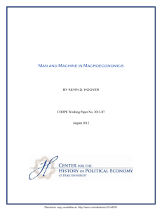 Man and Machine in Macroeconomics by kevin d. hoover