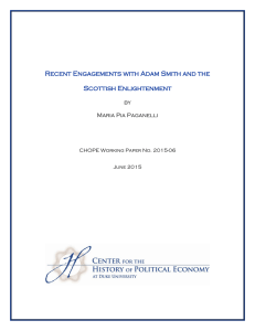 Recent Engagements with Adam Smith and the Scottish Enlightenment by