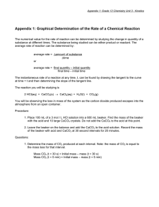 Appendix 1: Graphical Determination of the Rate of a Chemical...