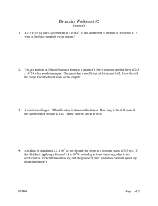 Dynamics Worksheet #2