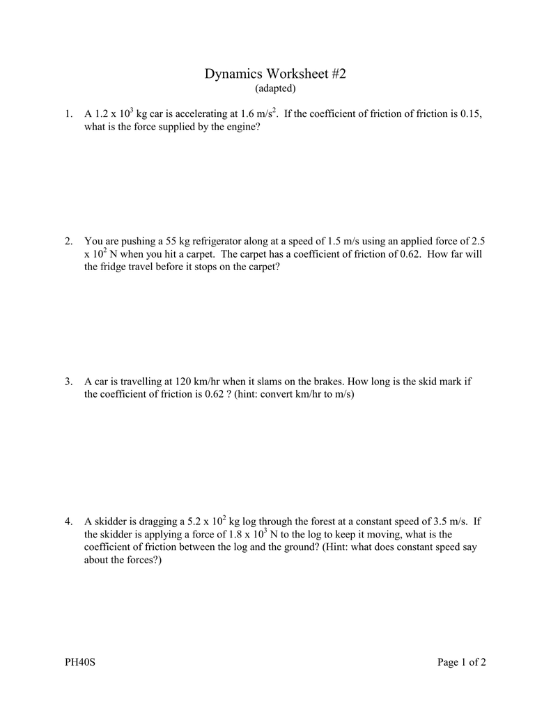 Worksheets Coefficient Of Friction Worksheet coefficient of friction worksheet abitlikethis
