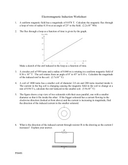 Electromagnetic Induction Worksheet