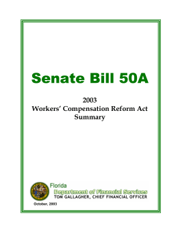 Senate Bill 50A  2003 Workers' Compensation Reform Act