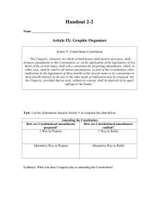 Handout 2-2  Article IX: Graphic Organizer