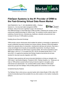 FileOpen Systems is the #1 Provider of DRM to