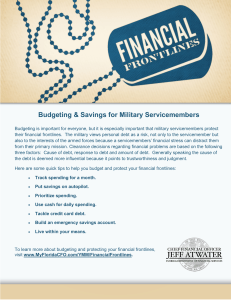 Budgeting & Savings for Military Servicemembers