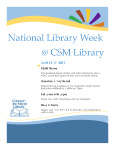 National Library Week @ CSM Library * April 13-17, 2015