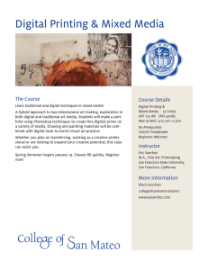 Digital Printing & Mixed Media The Course Course Details