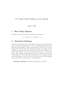 UT Math Club Problem of the Month 1 How Many Squares 2