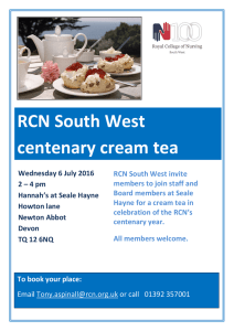 RCN South West centenary cream tea