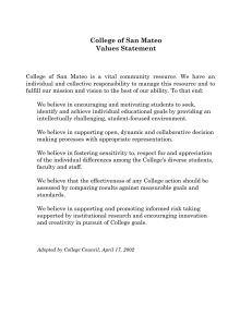 College of San Mateo Values Statement